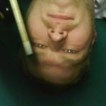 Greg Hogue is upside down!