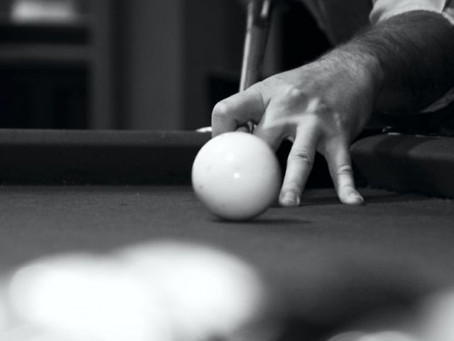 Hit the Cue Ball Low & Where you Want. ~ Max Eberle