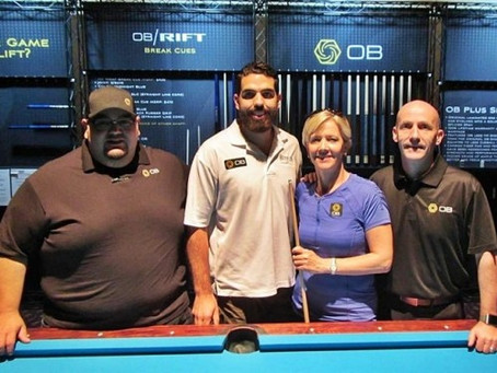 OB Cues & Allison Fisher Raise $1,420 at APA NTC for the BEF! ~ Samm Diep-Vidal {Press Release}