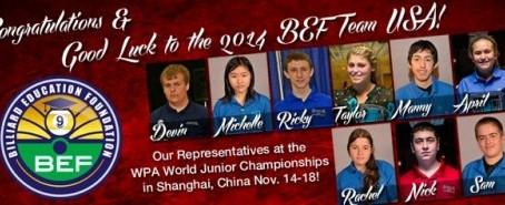 U.S. Juniors Gear up to Represent North America at WPA World Junior 9-Ball Championships. ~ Samm Die