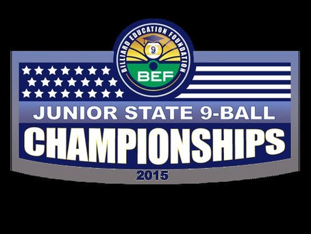 2015 BEF Junior State 9-Ball Championships Announced for Colorado and Wisconsin. {Press Release}