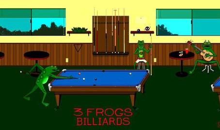 Delta-13 To Sponsor Three Frogs Billiards. {Press Release}