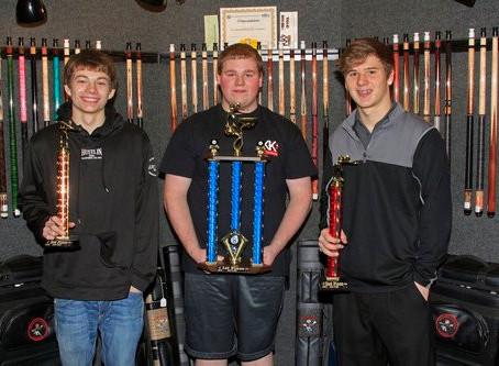 Wisconsin Junior 9-Ball Champ. ~ Ben Zeman and Dakotah Schmidtknecht