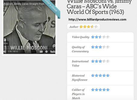 Willie Mosconi vs. Jimmy Caras Review ~ by Steve Sherman