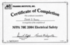 NFPA 70E Certification Jacob Herrick-Sov