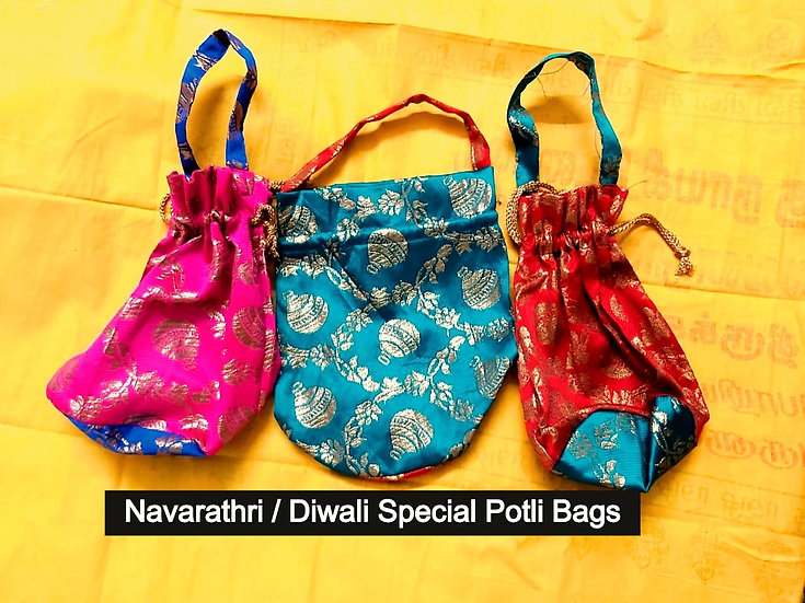 Navarathri / Diwali Special Potli bags