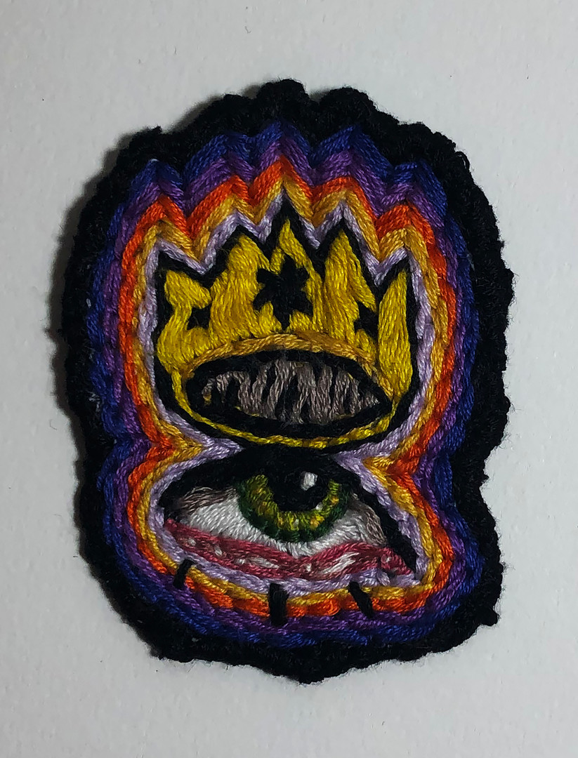 Embroidered Eye Crown