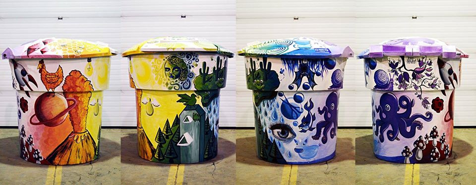 Garbage can for the city of Saskatoon