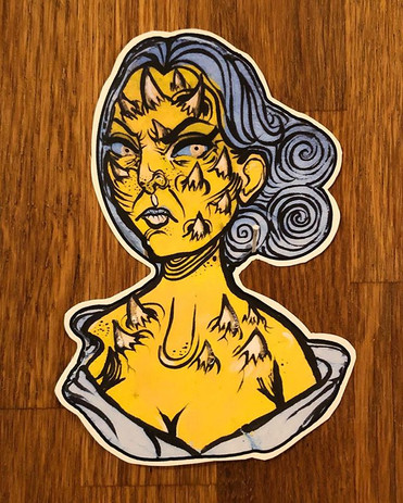 Prickly with anger._Sticker_._._._#janer