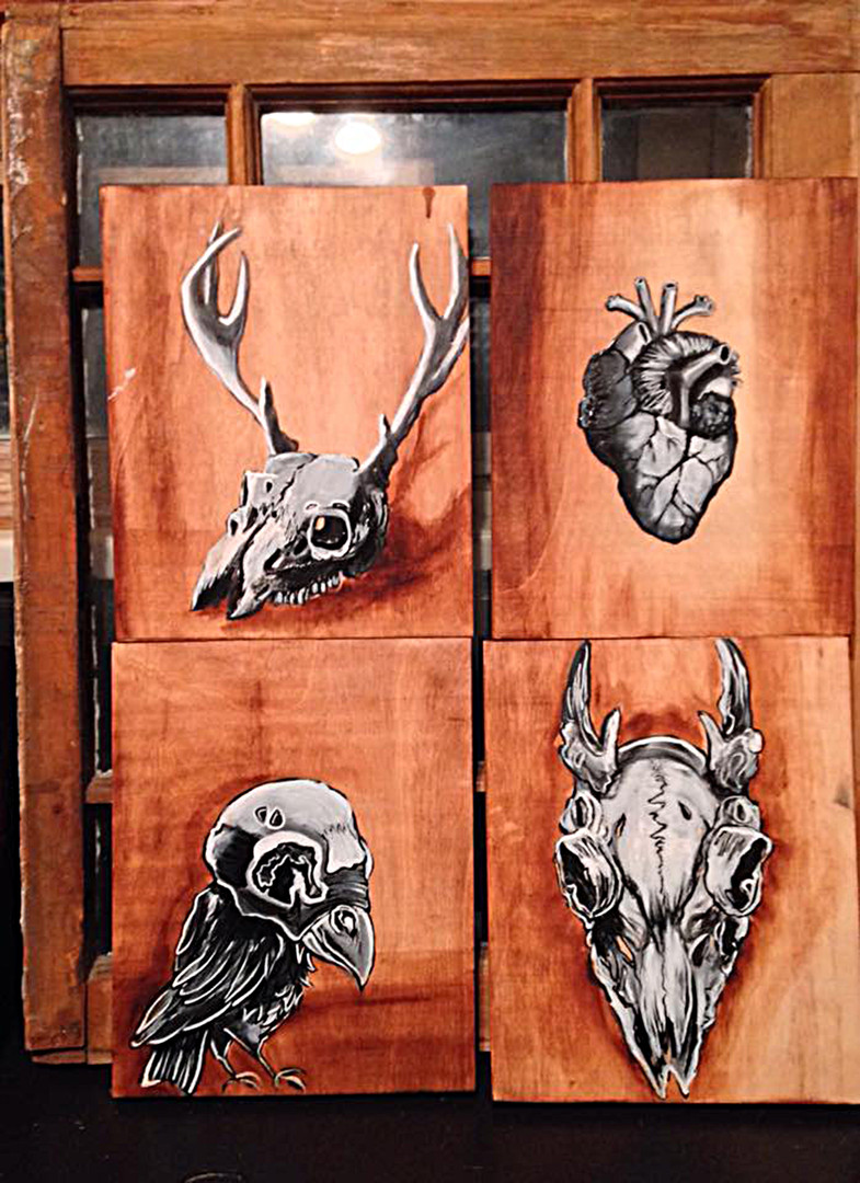 Acrylic on wood series