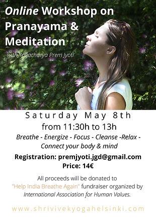 Online Workshop on Pranayama & Meditatio