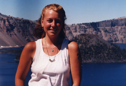 """Cheryl Strayed's necklace that read """"Strayed"""", given to her by her aunt"""