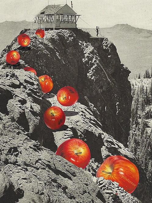 Cuadro original para la cocina de manzanas