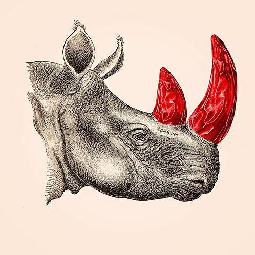 Cuadro original para la cocina de rinoceronte