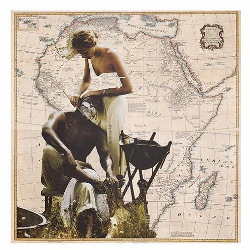 Cuadro original para casa del mapa de Africa