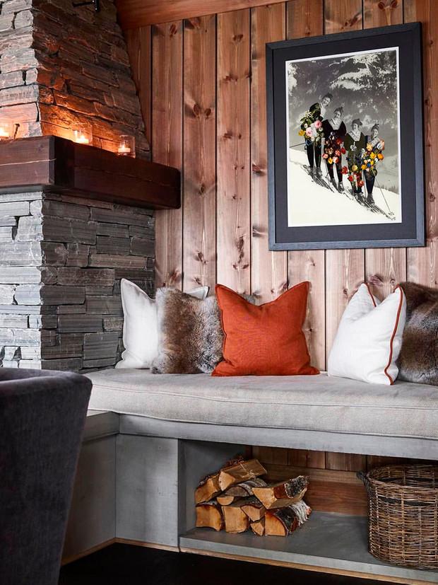 Cuadros de esquiadores para decorar casas de montana