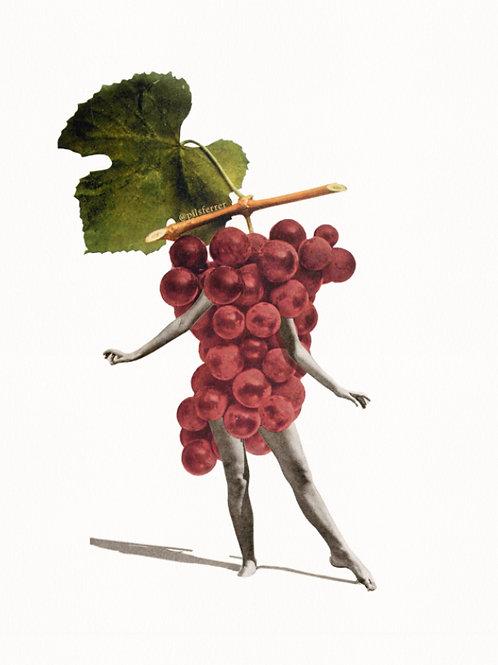 Cuadro para cocina de uvas moradas