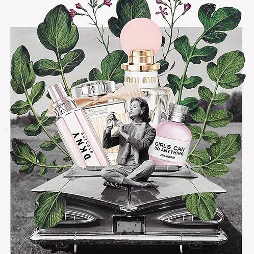 Cuadro original para casa de mujeres y perfumes