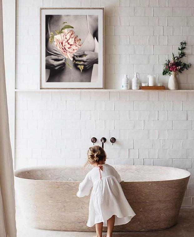 Cuadros femeninos para baños