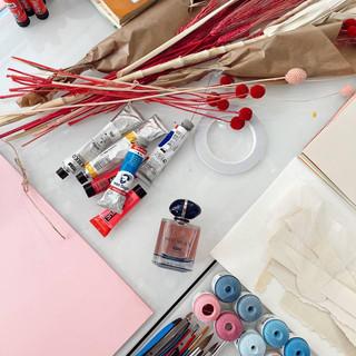 Material inspiración en el perfume My Way de Armani Beauty