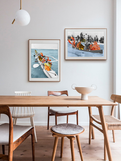 collage de canoas