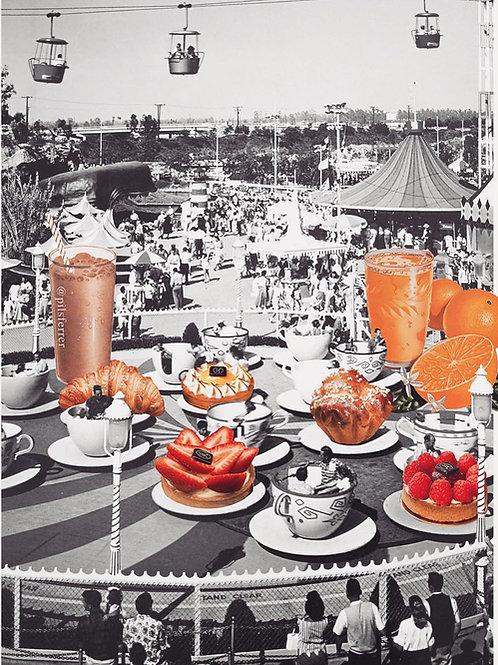 Collage de Pilsferrer en colaboración con la nueva pastelería de Madrid de Maison Kayser