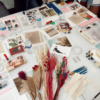 Material taller de collage con Pilsferrer