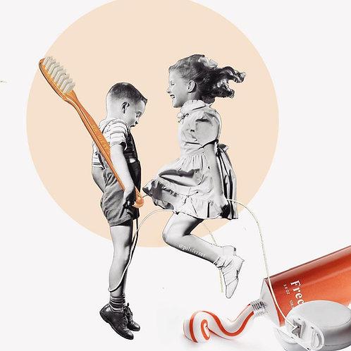 Collage de estilo surrealista para dentistas
