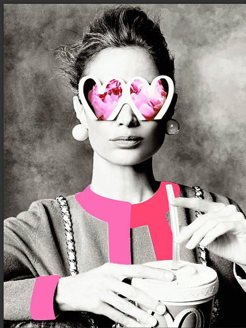 Cuadros originales para casa de mujer estilo chanel rosa