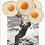 Cuadros para la cocina de niños con huevos fritos