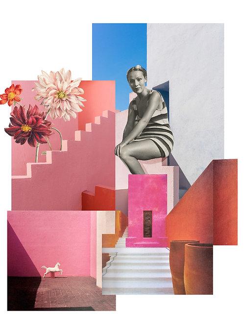 Collage de inspiración de arquitectura mexicana