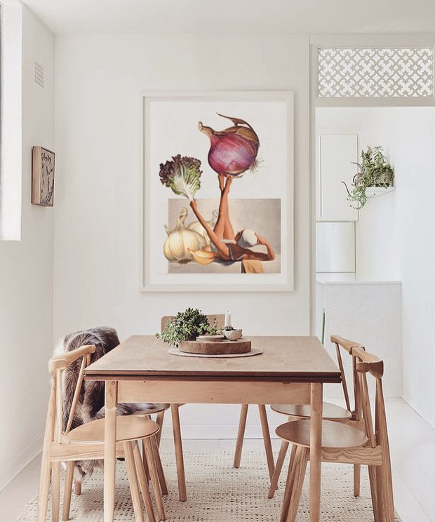 Cuadro de cebollas para la cocina