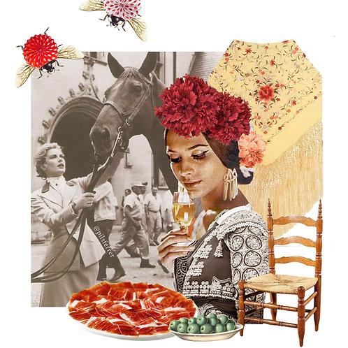 Collage inspirado en la feria de abril
