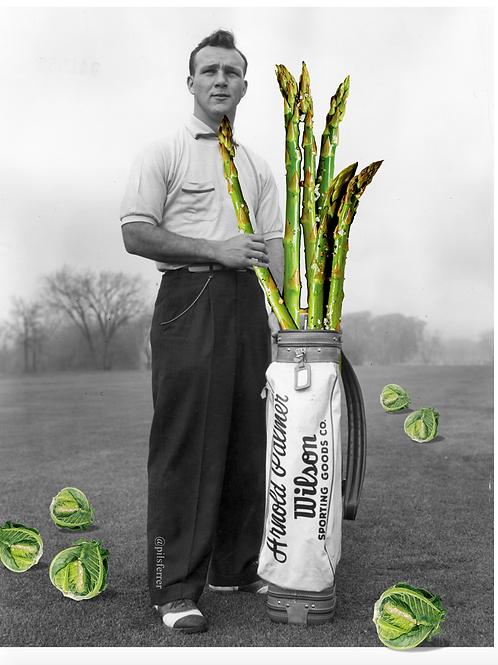 Cuadros originales para casa de hombre jugando al golf