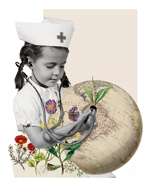 Cuadro para casa de niña enfermera