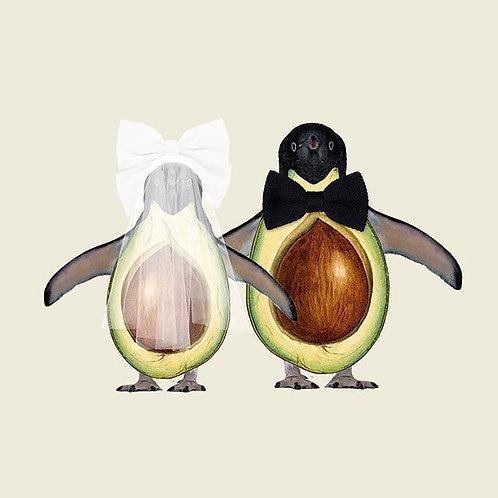 Cuadros originales para casa de pingüinos que se casan