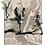 Collage del mapa de Londres con niñas y flores jugando
