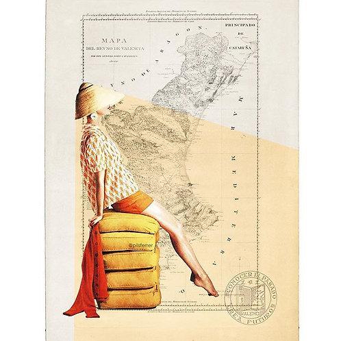 Cuadro original para casa del mapa de Valencia