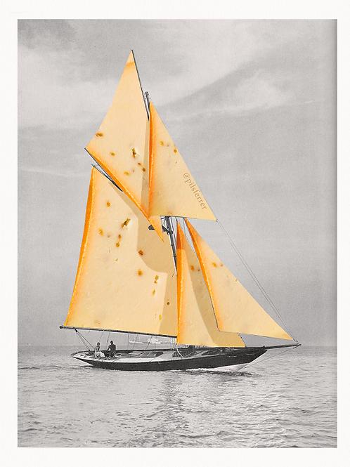 Cuadros originales para casa de barcos y queso manchego