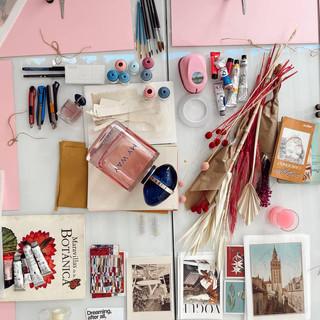 Montaje de mesa taller de collage Pilsferrer