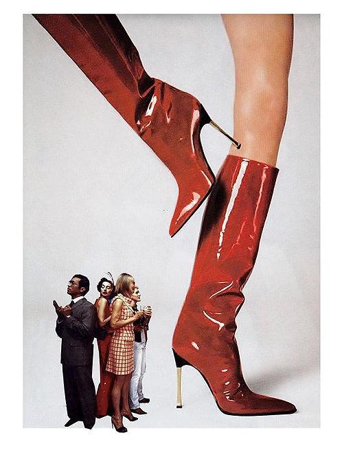 Cuadro para casa de botas rojas