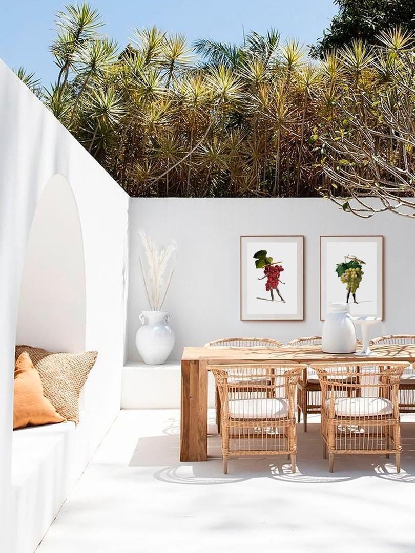 cuadros collage para decorar terrazas