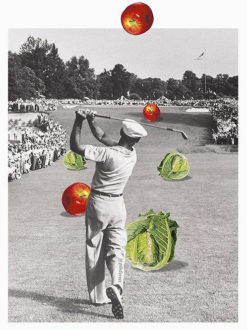 Cuadro original para casa para amantes del golf