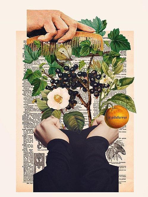 Cuadro original para casa del flores frutales