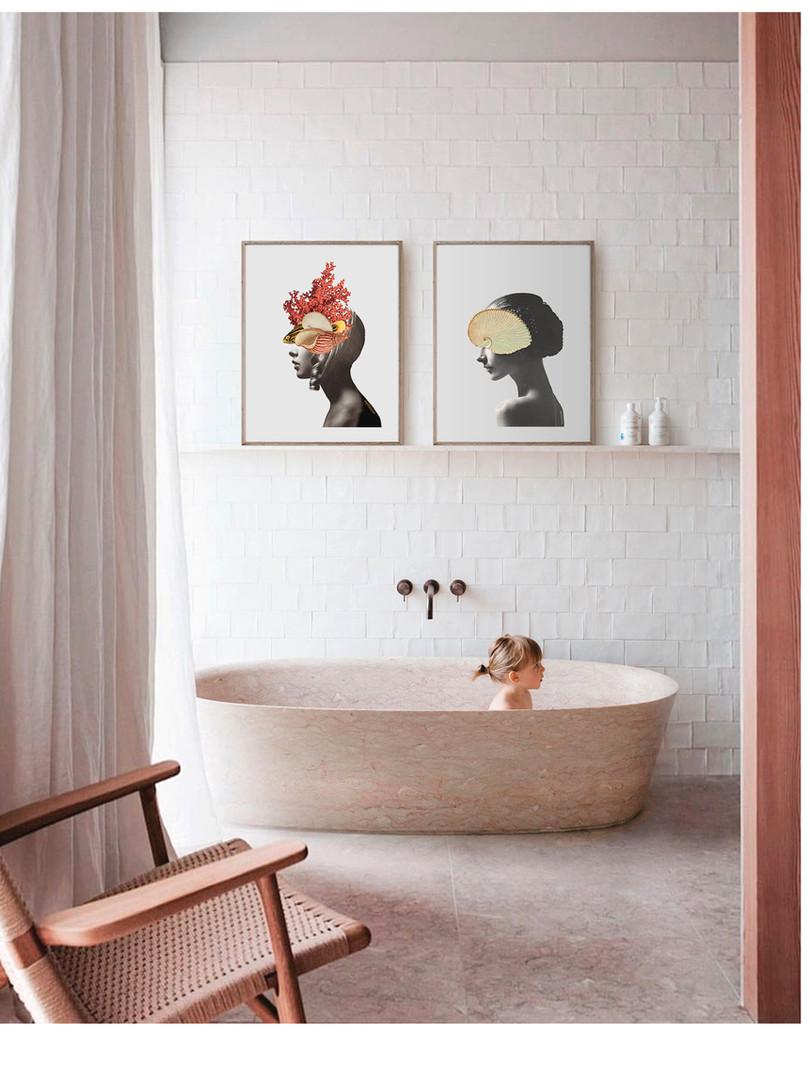 Collage femeninos para baños