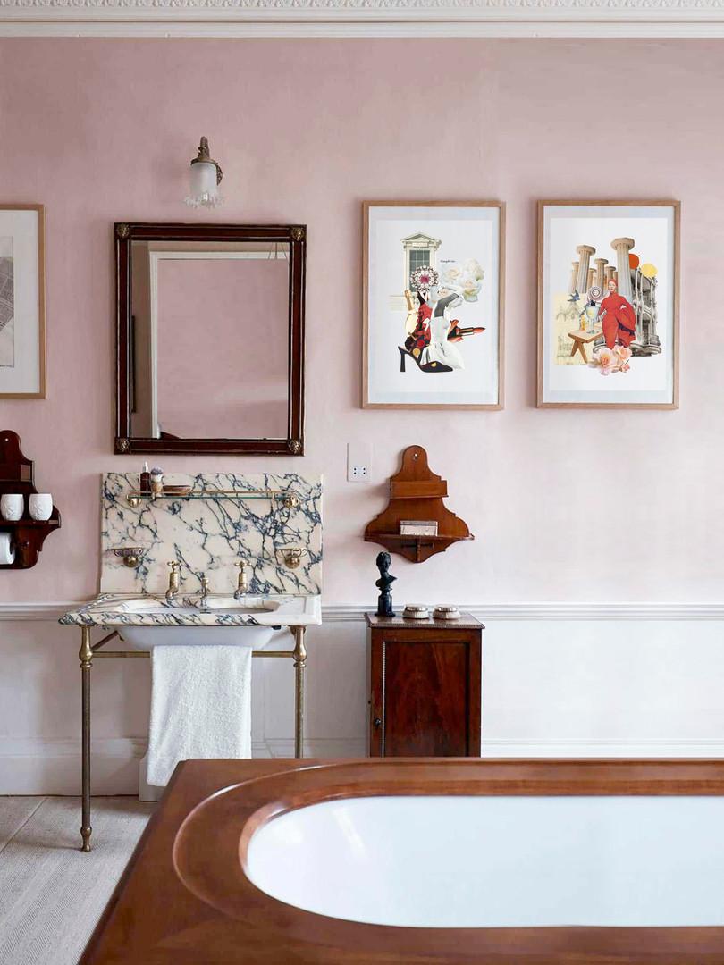 Collage de moda para el baño