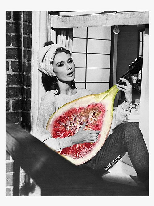 Cuadro original para casa de Audrey Hepburn e higos