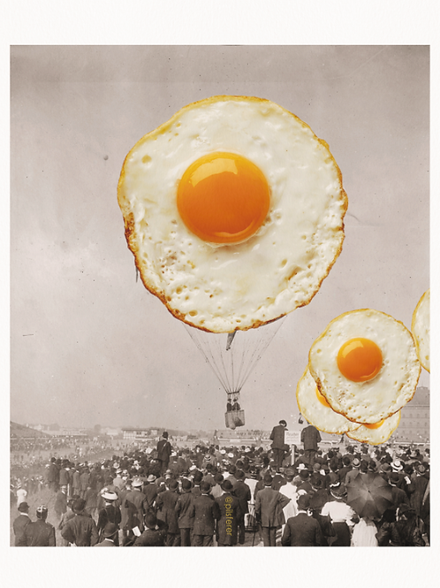 Cuadros originales para casa de huevos fritos y Madrid