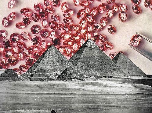 Cuadro original para casa de pirámides