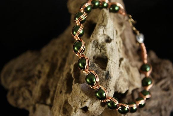 Green Goddess Spiral Bracelet